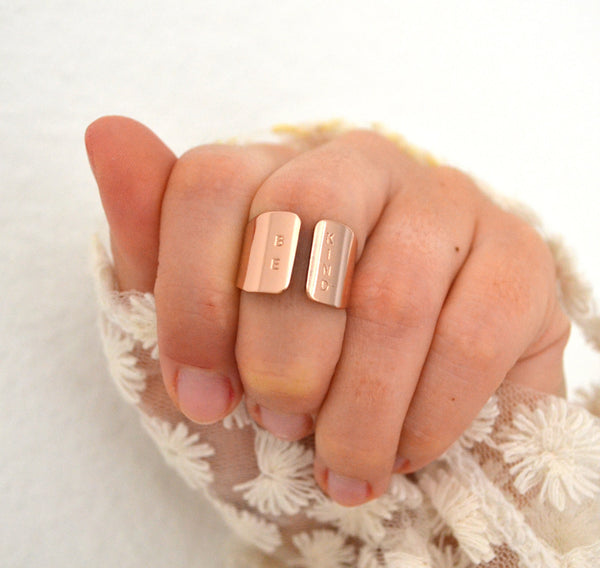 BE KIND Rose gold ring - Anci Decor Jewelry