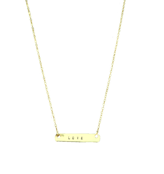 Personalized Bar Necklace - Anci Decor Jewelry
