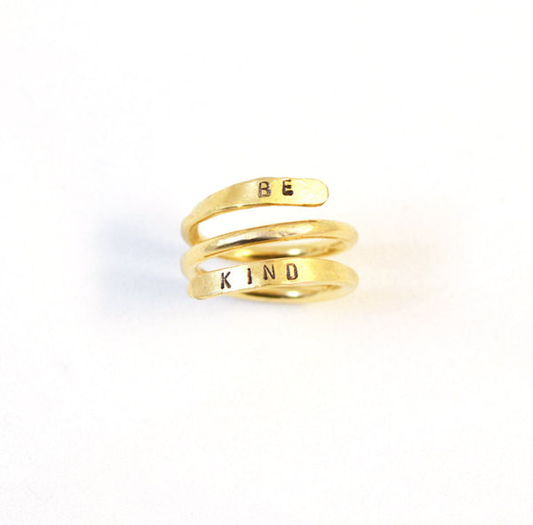 Personalized Ring, Gold filled  swirl ring - Anci Decor Jewelry