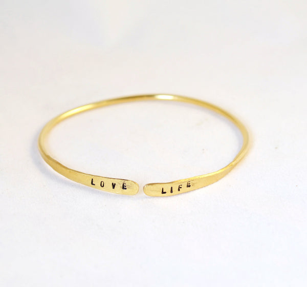 Personalized Skinny Bangle Bracelet - Anci Decor Jewelry
