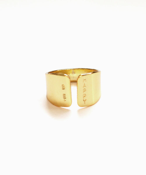 BE HAPPY gold ring - Anci Decor Jewelry