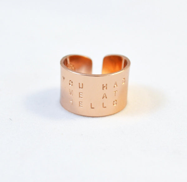 You had me at hello rose gold ring - Anci Decor Jewelry