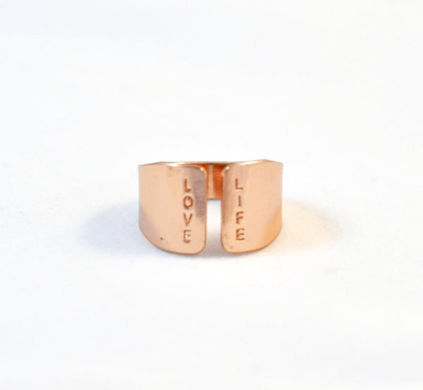 LOVE LIFE rose gold ring - Anci Decor Jewelry