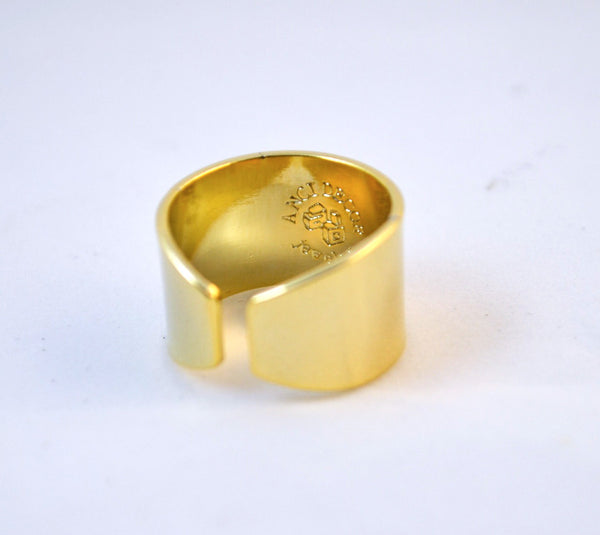Gold Hand Stamped Ring, You Had Me At Hello Quote - Anci Decor Jewelry