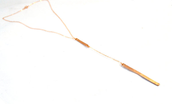 Minimalist Lariat Necklace - Anci Decor Jewelry