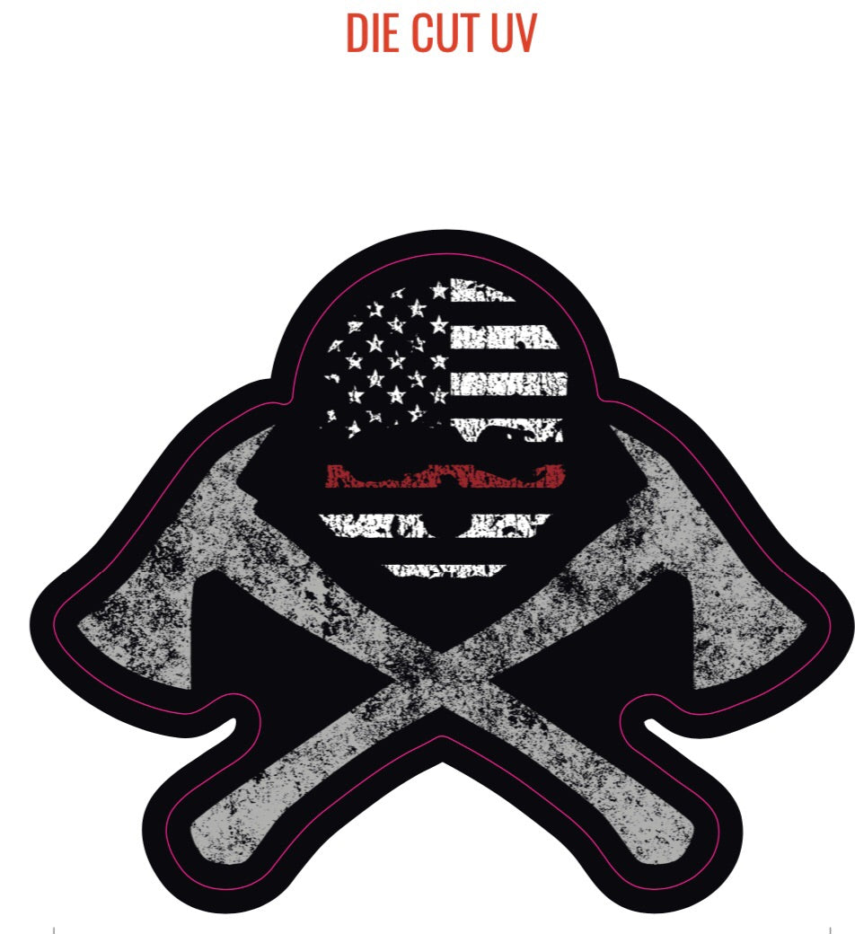 Thin Red Line sticker (UV Die Cut)