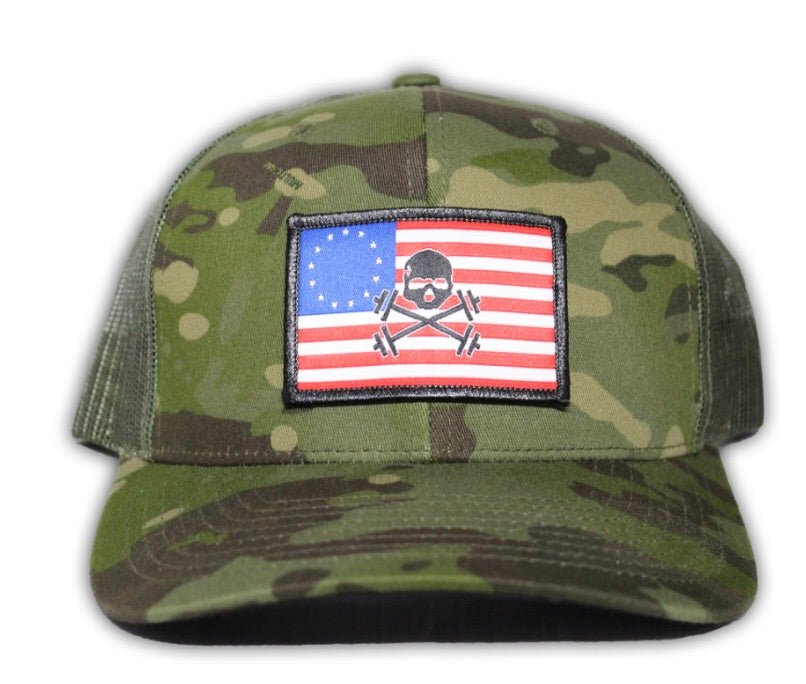 Multicam/Green Mesh Truck Hat