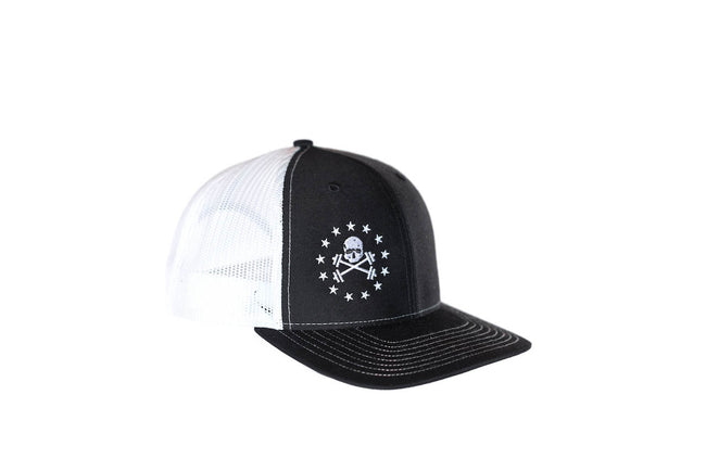 Black with White Mesh Trucker Hat