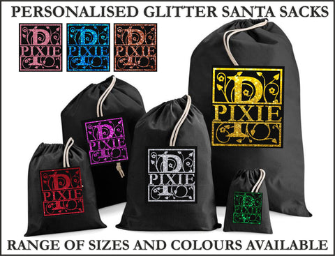 Glitter Letter Santa Personalised Christmas Sack - Awareness for DIPG - Free Postage