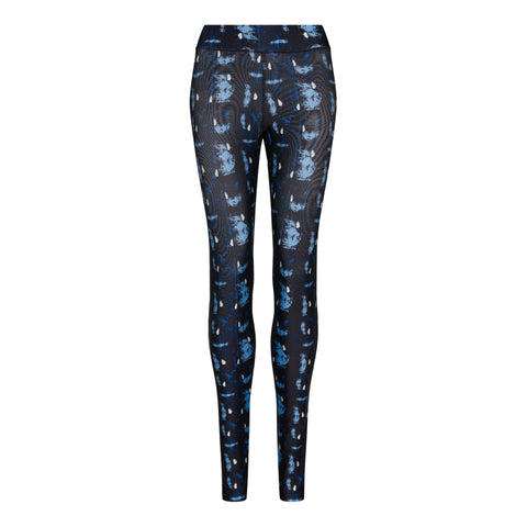 Women's Abstract Blue Printed Leggings