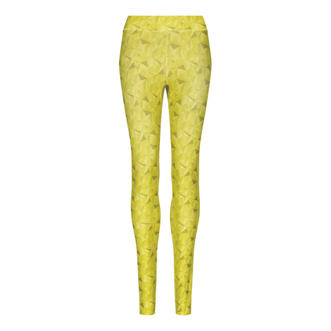 Women's Kaleidoscope Lime Printed Leggings