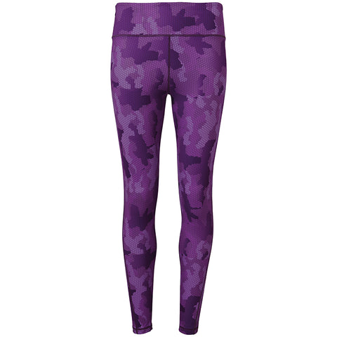Women's TriDri® Performance Hexoflage™ Leggings in Camo Purple