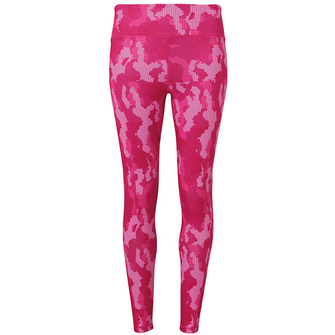 Women's TriDri® Performance Hexoflage™ Leggings in Camo Hot Pink