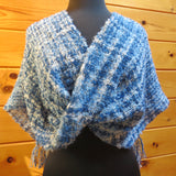 Mobius Shawl in Fleece Artist Silkylocks - Wedgewood