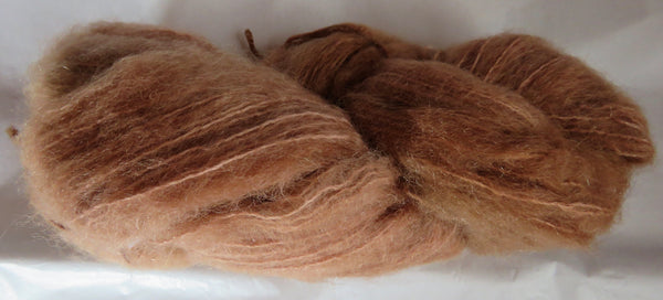 Brushed Mohair - Golden Brown