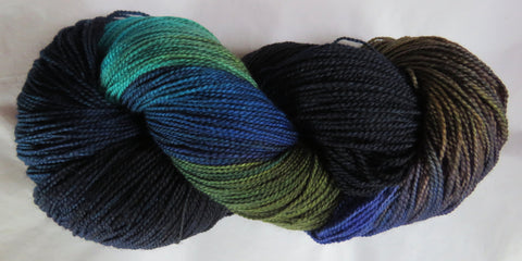 Fine Fingering 2ply Sock - Common Grackle 70
