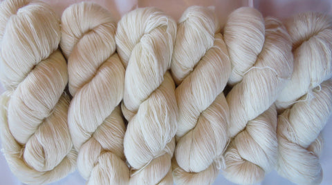 Fine  Merino - Lace Weight Yarn -  Natural A3
