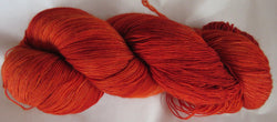 Fine  Merino - Lace Weight Yarn -  Dark Orange