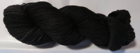 Fine Merino - Fine Sport Weight Yarn -  Almost Black