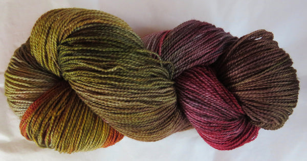 Fine Fingering 2ply Sock - Autumn Earth 70