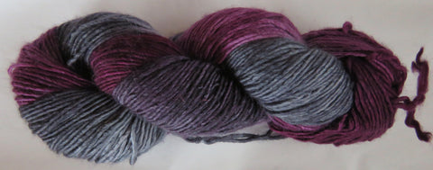 Merino DK Single Ply - Burgundy with Greys