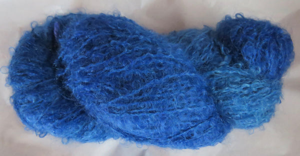 Mohair Loop - Medium Boucle - Blue Lot 7