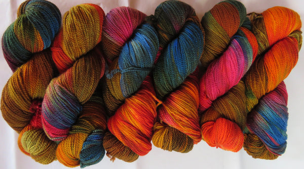 Fine Merino - Fine Sport Weight Yarn -  Autumn Rainbow A3