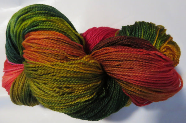 Fine Fingering 2ply Sock - Autumn Rainbow