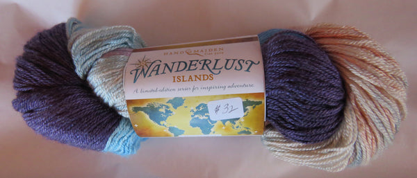 Hand Maiden Wanderlust Islands - Sea Silk Plush - Santorini
