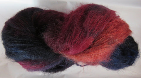 Brushed Kid Mohair - Wines/Blues 2027
