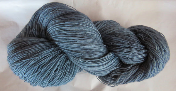 Fine  Merino - Lace Weight Yarn -  Smokey Blue
