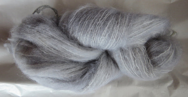 Brushed Mohair - Silver