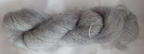 Brushed Kid Mohair - Silver 19-04
