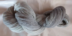 Fine  Merino - Lace Weight Yarn -  Silver