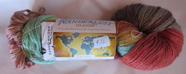 Hand Maiden Wanderlust Islands - Sea Silk Plush - Zanzibar