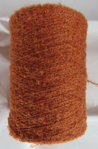 SPECIAL - MOHAIR BOUCLE - Orange Rust