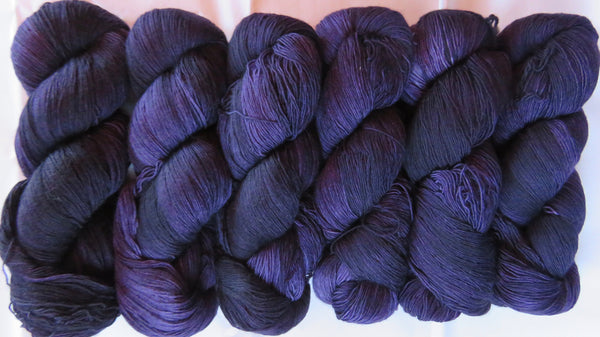 Fine  Merino - Lace Weight Yarn -  Aubergine A3