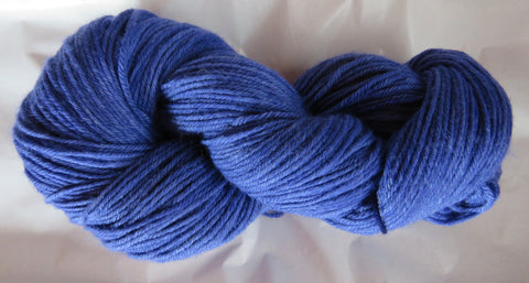 Fine Organic Merino - Worsted Weight  - Blue I-P