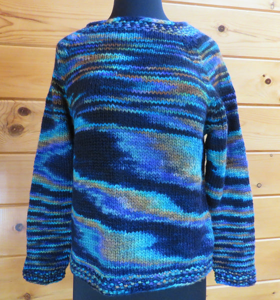 Basic Pullover in SW Merino - Bulky in Common Grackle