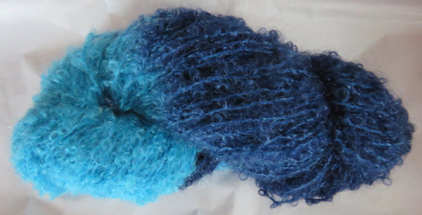 Mohair Loop - Medium Boucle - Turquoise & Blues