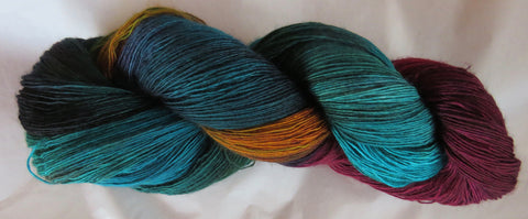 Fine  Merino - Lace Weight Yarn -  Peacock