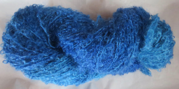 Mohair Loop - Medium Boucle - Blue Lot 13