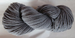 Fine Organic Merino - Worsted Weight  - Grey I-JJ