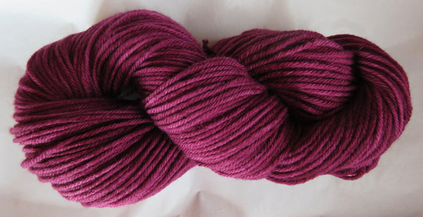 Fine Organic Merino - ARAN Weight  -  Wine 19-03
