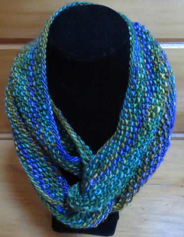 Cowl - Double Twist Mobius Cowl - The Heath #2 (Finished Product)
