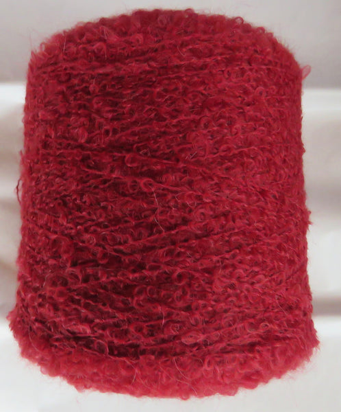 SPECIAL - MOHAIR BOUCLE vs 2 - Dark Red