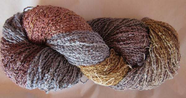 Hand Maiden Rumple - Swiss Mountain Silk - Boucle - Pewter