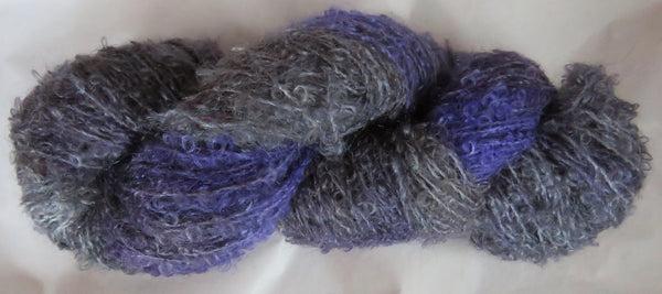 Mohair Loop - Medium Boucle - Lavender & Greys