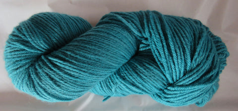 Fine Organic Merino - Worsted Weight  -  Teal 18-0