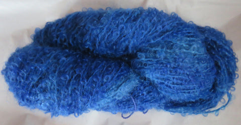 Mohair Loop - Medium Boucle - Blue Lot 18